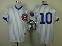 Wholesale 2015 Newest Men s Chicago Cubs Ron Santo White Strip Baseball Jerseys Cheap jerseys Size M XXXL