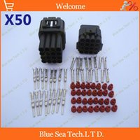 automotive connectors electrical - 50 sets Pin way mm car connector Car Waterproof Electrical plug Automotive sensor Main connector for car truck ect