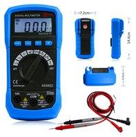 Wholesale New Digital Multimeter DMM Temperature Measurement Auto range Max Data Holding LCD Backlight Digital Multimeter with Temperature