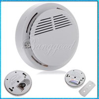 Wholesale Home Safety Security System Battery Wireless Cordless Sensor Monitor Smoke Detector Fire Alarm Backup A5