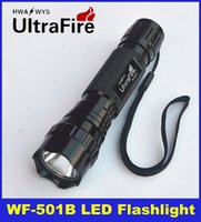 Wholesale 2015 High Quality Ultrafire WF B CREE T6 LED Flashlight Torch lumens Mode Camping Hiking Portable outdoor DHL Free Delivery