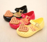 Wholesale New Toddler Mini Melissa Waffle Jelly Shoes Kids Girl Princess Mini Sandals Babies Soft Original Quality Shoes