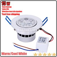 Wholesale 15w Led ceiling light AC85 V V V Cool white warm white Dimmable Non dimmable CE ROHS kitchen lamp ceiling lamp led recessed light