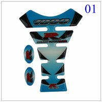 pads motorcycle - 100pcs Blue PVC Motorcycle FUEL GAS Tank Pad Cover Protector Decal Stickers For Suzuki GSXR1000 High Quality