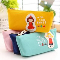 beauty supply case - Kawaii canvas student pencil bag pouch case cosmetics beauty pouch bag Office School supplies dandys