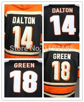 bengals hoodies - Andy Dalton A J Green Hoodies Stitched Bengals Football Hoodies Men Sweatshirts Winter Jacket Embroidery Size XXXL
