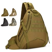 army surplus - Field Tactical Outdoor Camouflage Chest Pack Men Sport Single Shoulder Crossbody Bag Large Army Surplus Gear Equipment male bag