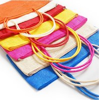 Wholesale Summer Shoulder Straw Bags Fashion Womens Straw Weave Woven Tote Shopping Bag Straw Beach Bags