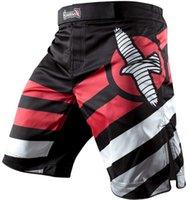 taglia 30 32 34 36 Hayabusa MMA pantaloncini Lotta Elevate prestazioni Pantaloncini pantaloni dell'uomo nero di trasporto / bianco libera