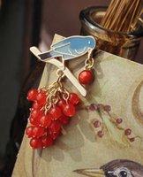Wholesale Pemberley trade jewelry Acacia Italy Vintage art bird blue branches brooch pendant Hongzhushan