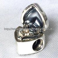 925 plata esterlina 14K oro verdadero regalo de la perla del encanto del corazón con la CZ ajustarse al estilo europeo joyería de Pandora pulseras collares pendientes
