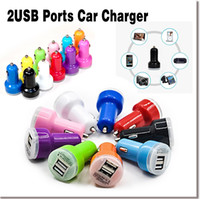 Wholesale 5V A Dual USB Car Charger Mobile Phone USB Adapter For Iphone Plus s For Samsung Galaxy S6