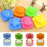 bento egg molds - 6pcs set Boiled Egg Sushi Rice Mold Bento Maker Sandwich Cutter Decorating Mould Fish Car bear Rabbit Shapes Drop Free