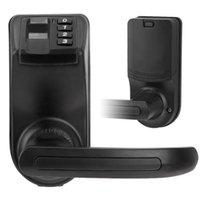 door - US Stock ADEL LS9 Biometric Fingerprint Password Door Lock Reversible Handle Fingerprint Access Security Electronic Lock