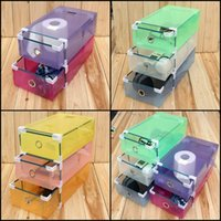 clear plastic shoe box - 30 X cm Transparent Clear Plastic Shoe Boot Box Stackable Foldable Storage Drawer Box Organizer Drawer Design