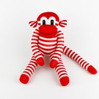 Wholesale handmade baby toy sock monkey stuffed animal doll