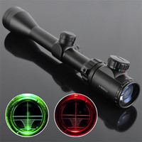 Wholesale DHL Good Quality Black Wolf X EG Riflescopes Rifle Scope Hunting Scope Red and Green Light w Mounts MM MM Clamps