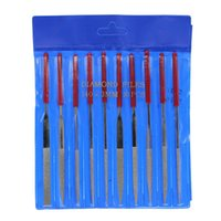 Wholesale 10 Set Enduring Diamond Needle File Coated Riffler Cutting Polishing Gadget