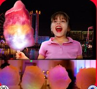 Wholesale 2014 Most Creative Cotton Candy Stick Flash Different Colors Marshmallow Stick Children Welcome Glow Stick Food Grade Safety Manufacturers