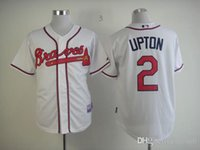 b j upton - 2015 New Men Atlanta Braves B J Upton Baseball Jersey Embroidery Stitched Shirt Cream Red Black White