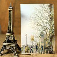 bear postcard - Creative Vintage Cartoon Bear in Paris series postcard Greeting Card Gift Cards New Fashion dandys