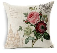 Wholesale 2015 Hot Decorative Pillow Cover with Flower Pattern Style Lovely Seat Cushion Cover for Chair