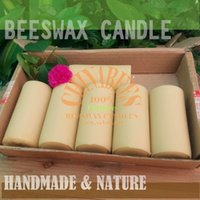 Wholesale 6pcs Handmade All Natural Beeswax Candles x5 cm Stick Votive Candle Cotton Wicks
