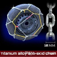 Wholesale Pair mm Car slip resistant chain titanium alloy chain snow chains overstretches For tyre chain sedan unflattering Free Gift