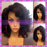 Wholesale Side Part Glueless Bob Lace Front Wigs Virgin Brazilian Short Full Lace Human Hair Wigs For Black Women With Baby Hair