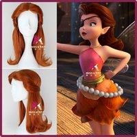 bell wig - New Movie Tinker Bell and the Pirate Fairy Rosetta Wig Synthetic Short Curly Auburn Anime Cosplay Wig
