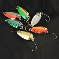 Wholesale Fishing Lure Spoon Hard Metal Lures Fishing Spoon Lures g Spinner Spoon Hard Bait spoons Sliver Gold Green Red