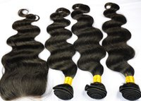 Wholesale Brazilian Virgin Hair Middle Part Lace Closure With Hair Bundles Unprocessed Human Virgin Hair Extension Body Wave