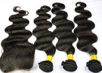 Wholesale SGS Body Wave Brazilian Virgin Hair Middle Part Lace Closure With Hair Bundles Unprocessed Human Virgin Hair Extension Grade