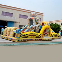 Wholesale AOQI fun city inflatable Robot Theme Park fun city inflatable fun land for kids for sale made in China