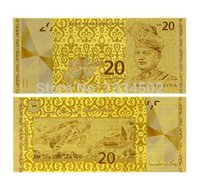 banknote design - Malaysia RM Banknote Gold Plated K With Exquisite Designed And Handcraft