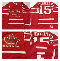 Cheap Mens #15 Heatley Red 2010 Canada Team Vancouver Winter Olympic Hockey Jerseys Ice International Sports Stitched Premier Authentic Sports