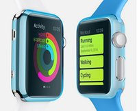 Wholesale For Apple Watch iWatch mm mm Rubber Slim Thin TPU Hard Protective Case Cover Crystal Protector