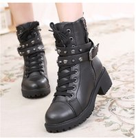 Wholesale 2014 new autumn and winter high heeled boots PU solid trend boots Martin boots wild section
