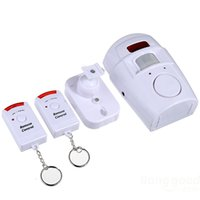 Wholesale Wireless Infrared Motion Detector PIR Motion Sensor Alarm Home Security System Alarm with Dual Remote Controller Hot Sale