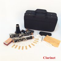 Wholesale 17 Key Bb Flat Soprano Clarinet Nickel Plating Exquisite Bakelite Clarinet Woodwind Instruments Musical Instruments