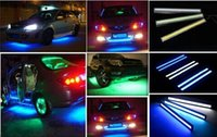 Wholesale Top AAAA W cm Black Shell Daytime Running light Waterproof LED COB Day time Car DRL Driving Lamp