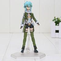 art bullets - Sword Art Online SAO Figma Phantom Bullet Asada shino PVC Action Figure Krito In face of change Model Toy