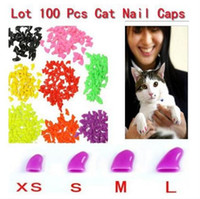 Wholesale 2015 New fashion Soft Cat Pet Nail Caps Claw Control Paws off Adhesive Glue