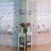 Wholesale LS4G Balloon Tulle Voile Door Window Curtain Drape Panel Sheer Scarf Valances MTY3