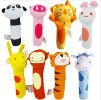 bb tiger - BIBI Stick Sound Toys BB Rod Rattle Baby Hand Puppet Enlightenment Toy Cow Piggy Rabbit Monkey Giraffe Tiger Lion Panda