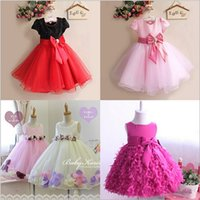 wedding dresses lot - bala_bala Children Girls Dress Children Sleeveless Flowers Full Dress Princess Dress Wedding Flower Girl Dress B
