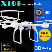 achat en gros de drone quadcopter professionnel-Mjx x101 drones professionnels RC hélicoptère drone quadcopter avec 720p HD Wifi caméra FPV (en option)