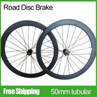 Wholesale New arrival c carbon Road DISC hub mm tubular wheels k finished disc brake road bicycle wheel Mac Aero Cnspoke