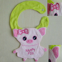 Wholesale 12 designs Baby cartoon bibs Animals BIBs Infant Animal Baby Baby Bibs Burp Cloths bibs
