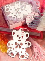 Wholesale New Arrive Teddy Bear Bookmark Angel bookmark baby shower party favors guest gift